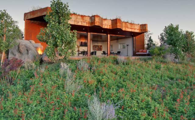 Outside House Windows Design On Desert Contemporary Home Plans
